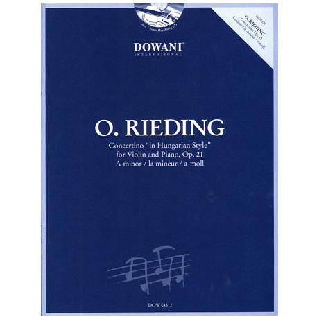 Rieding, O.: Concertino im ungarischen Stil Op. 21 (+CD)