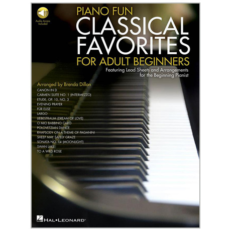 Piano Fun – Classical Favorites for Adult Beginners (+Online Audio)