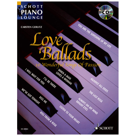 Schott Piano Lounge – Love Ballads (+CD)
