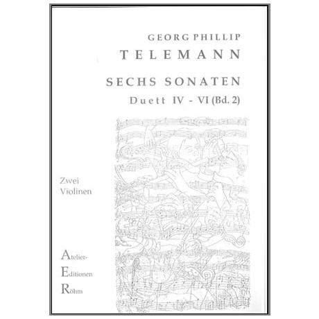 Telemann, G. Ph.: Sechs Duette (Sonaten) Bd. 2, Sonate IV bis VI
