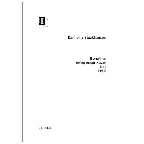 Stockhausen, K.: Violinsonatine