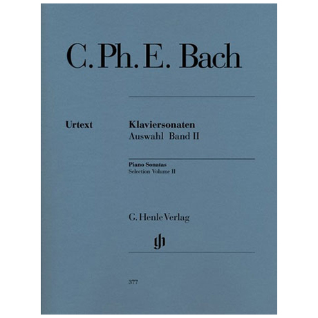 Bach, C. Ph. E.: Klaviersonaten Auswahl Band II