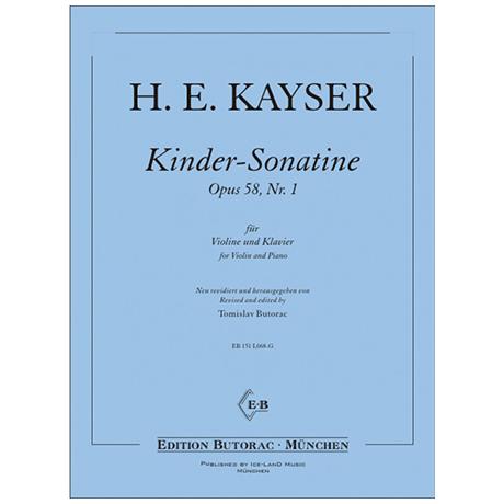 Kayser, H.E.: Kinder-Sonatine Op. 58/1