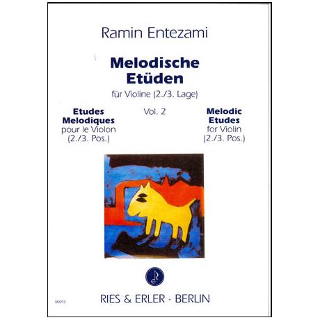 Entezami, R: Melodische Etüden Band 2