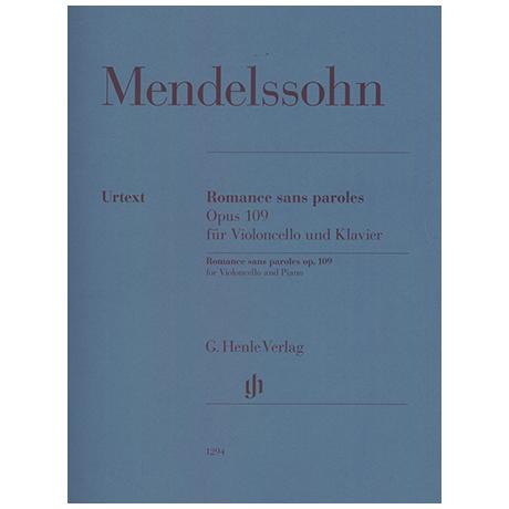 Mendelssohn Bartholdy, F.: Romance sans paroles Op. 109