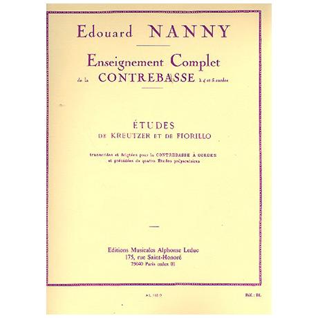 Nanny, E.: Etudes De Kreutzer Et De Fiorillo Contrebasse