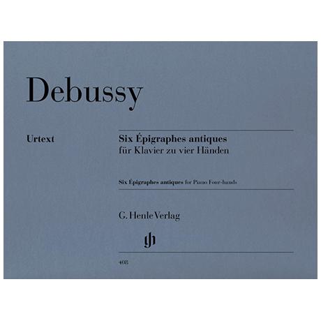 Debussy, C.: Six Epigraphes antiques zu 4 Händen