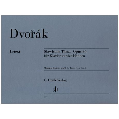 Dvořák, A.: Slawische Tänze Op. 46 zu 4 Händen