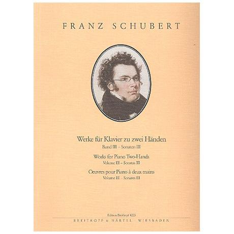 Schubert, F.: Sämtliche Klavierwerke Band III: Sonaten III