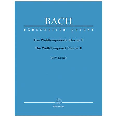 Bach, J. S.: Das Wohltemperierte Klavier II BWV 870-893