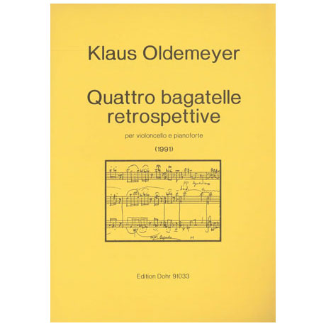 Oldemeyer, K.: Quattro bagatelle retrospettive (1991)