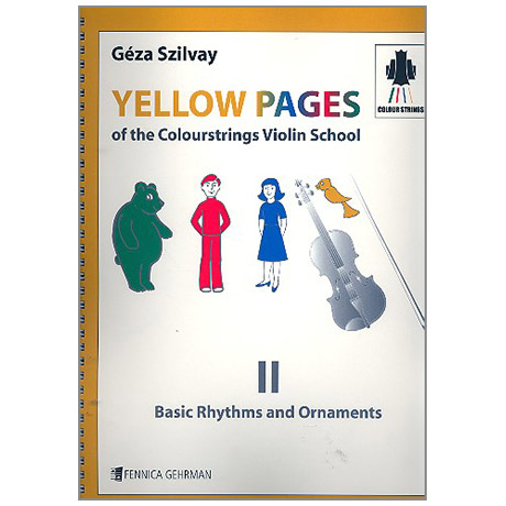 Yellow Pages Of the Colourstrings Violin School 2 – Rhythms And Ornaments