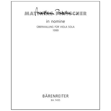 Pintscher, M.: In Nomine - Übermalung (1999)