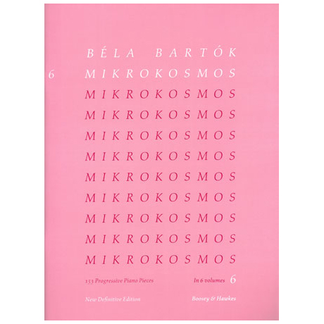 Bartók: Mikrokosmos Band 6