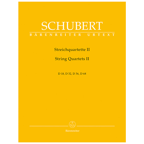Schubert, F.: Streichquartette Band 2 – D18, D32, D36, D68