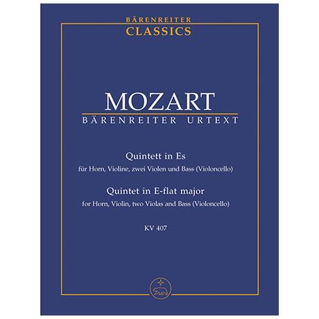 Mozart, W. A.: Quintett Es-Dur KV 407 (386c) – Hornquintett