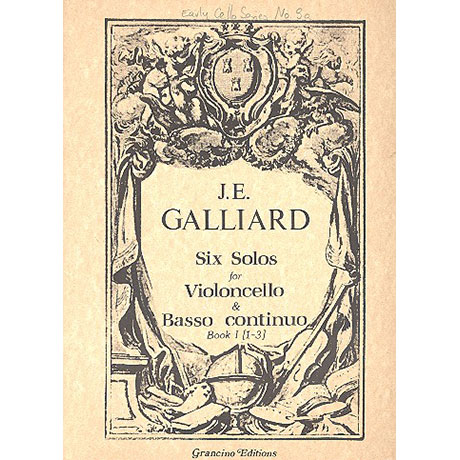 Galliard, J.: 6 Solos Band.1 (Nr.1-3)