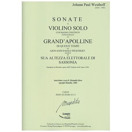 Westhoff, J.P.: 6 Sonaten