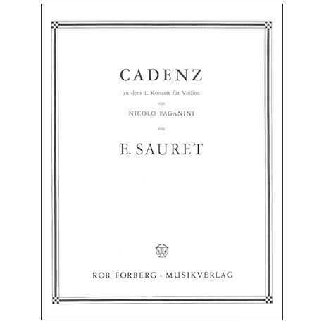 Paganini, N. / Sauret, E.: Kadenz zum Violinkonzert Nr. 1
