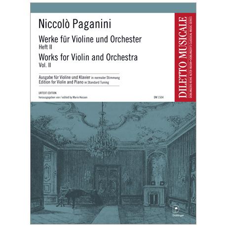Paganini, N.: Werke für Violine und Orchester Band 2