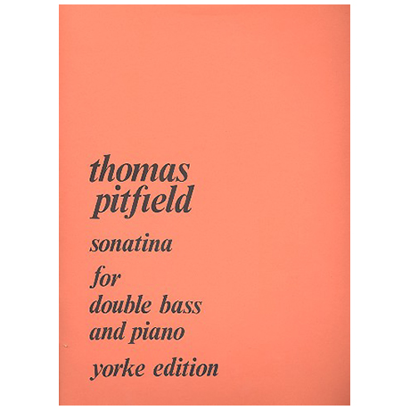 Pitfield, T.B.: Kontrabasssonatine