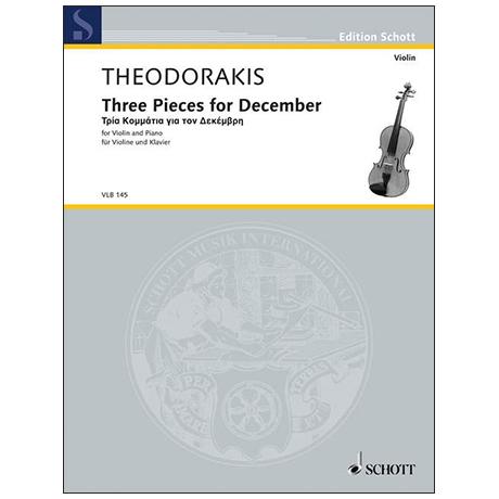 Theodorakis, M.: Three Pieces For December