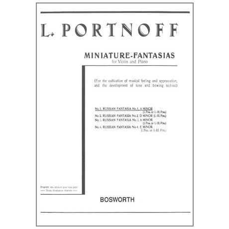 Portnoff, L.: Russische Fantasie Nr. 1 a-Moll