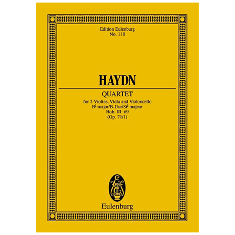 Haydn, J.: Streichquartett Op. 71/1 Hob. III: 69 B-Dur
