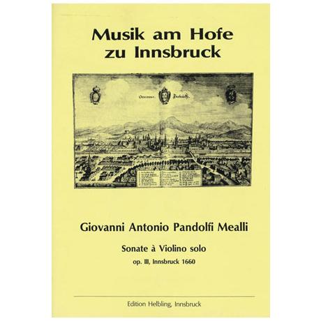 Mealli, G. P.: Sechs Violinsonaten Op. 3