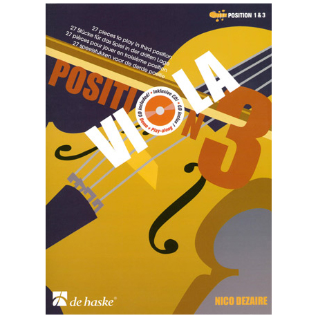 Dezaire, N.: Viola Position 3 (+CD)