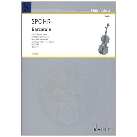 Spohr, L.: Barcarole Op. 135/1 G-Dur aus 6 Salonstücke