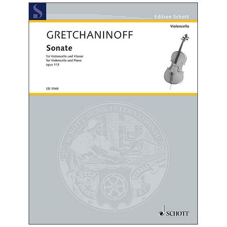 Gretschaninow, A.: Sonate Op. 113 E-Dur