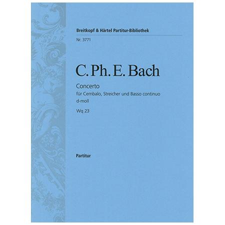 Bach, C. P. E.: Cembalokonzert d-Moll Wq 23