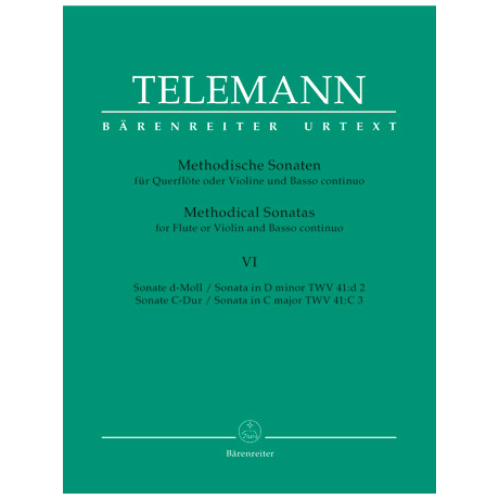 Telemann, G. Ph.: Methodische Sonaten - Band 6