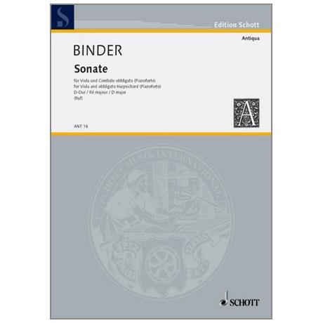 Binder, C. S.: Violasonate D-Dur