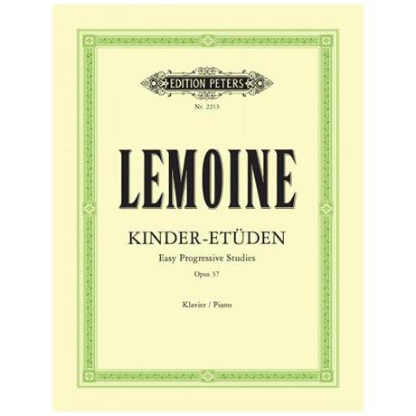 Lemoine, H.: Kinder-Etüden op. 37