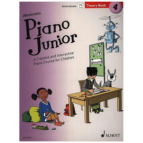Heumann, H.-G.: Piano Junior – 4 Theory Book (+Online Access)