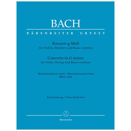 Bach, J. S.: Violinkonzert g-Moll nach BWV 1056