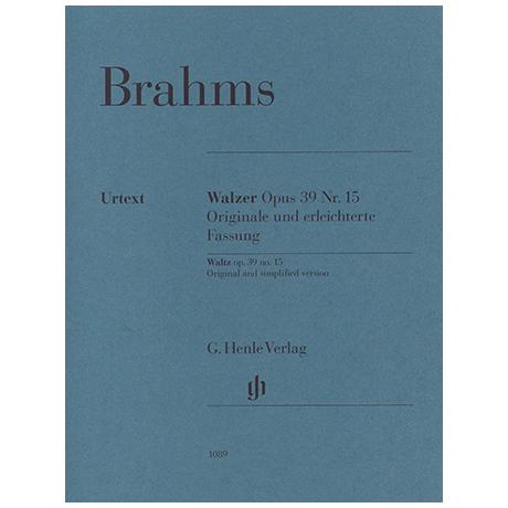 Brahms, J. Walzer Op. 39/15