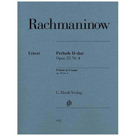 Rachmaninoff, S.: Prélude Op. 23/4 D-Dur