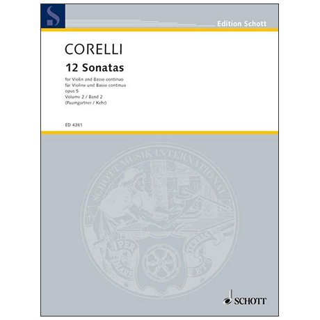 Corelli, A.: 12 Violinsonaten Op. 5 Band 2 (Nr. 7-12)