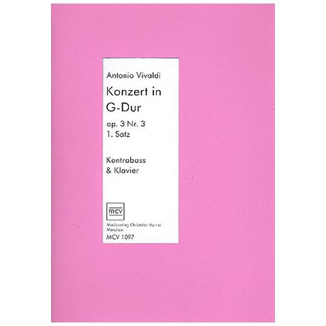 Vivaldi, A.: Kontrabasskonzert Op.3/3