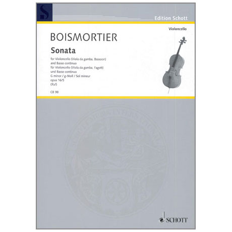 Boismortier, J. B. d.: Violoncellosonate Op. 26/5 g-Moll