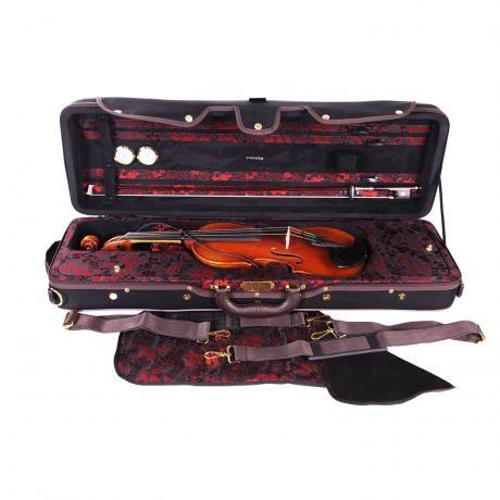 PACATO Dragon Violinkoffer 4/4 | schwarz/rot