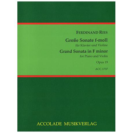 Ries, F.: Violinsonate Op. 19 f-Moll
