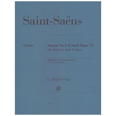 Saint-Saëns, C.: Violinsonate Nr. 1 Op. 75 d-Moll