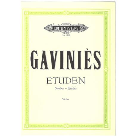 Gavinies, P.: 24 Etüden
