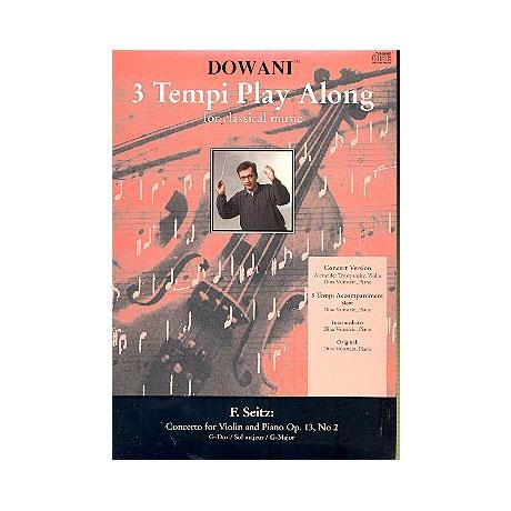 Seitz, F.: Violinkonzert No. 2 Op. 13 G-Dur – 3 Tempi Play-Along