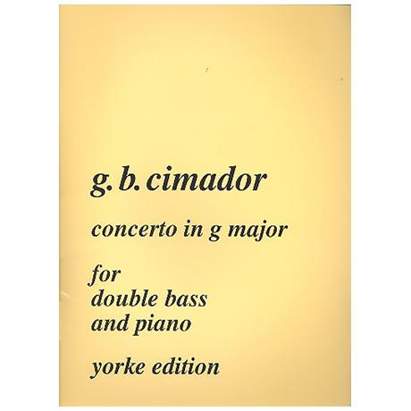 Cimador, G.B.: Concerto G-Dur