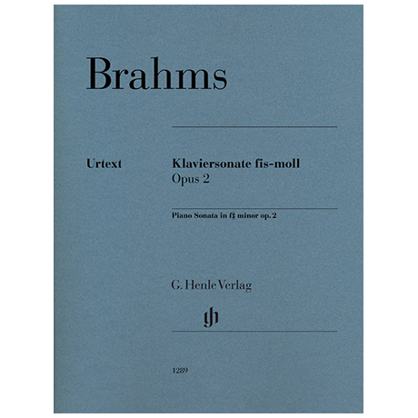 Brahms, J.: Klaviersonate Op. 2 fis-Moll